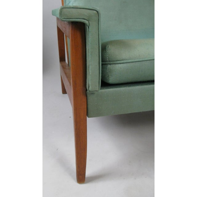 1950s Walnut Lounge Chairs - a Pair For Sale In New York - Image 6 of 9