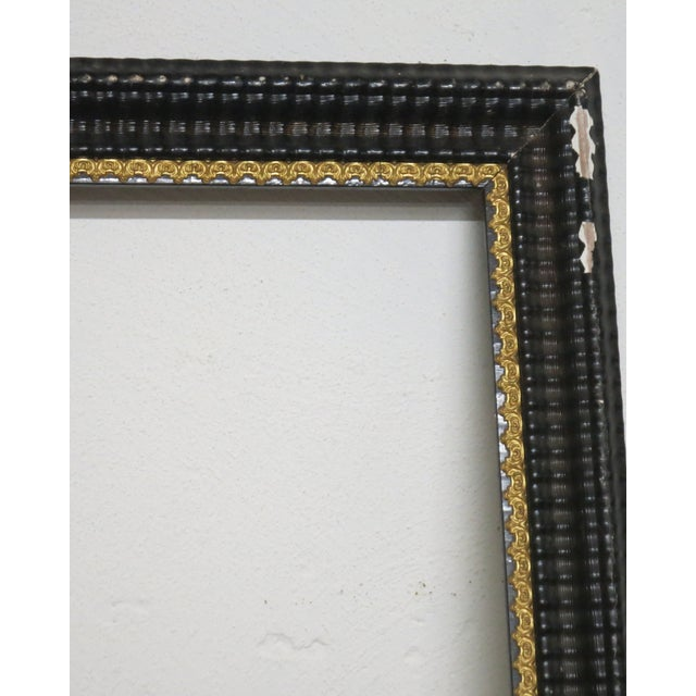 Mid 19th Century 1850 Antique Ripple Picture Frame For Sale - Image 5 of 8
