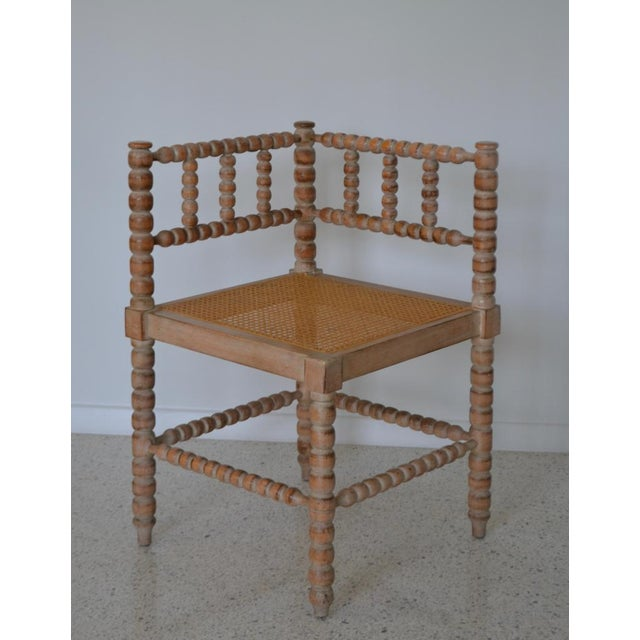 Turned Wood Corner Chair For Sale - Image 12 of 13