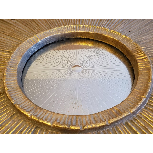 Gold 1950s Mid-Century Sunburst Mirror For Sale - Image 8 of 13