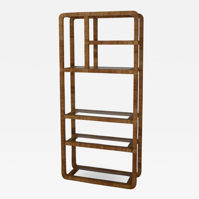 Mid-Century Rattan Bookcase For Sale - Image 13 of 13