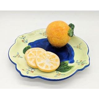 Bella Casa Trompe l'Oeil Orange Fruit Plate Preview