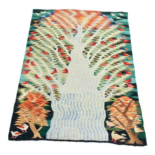 Large Egyptian Woven Tapestry of Tree of Life by Wassef Workshop For Sale