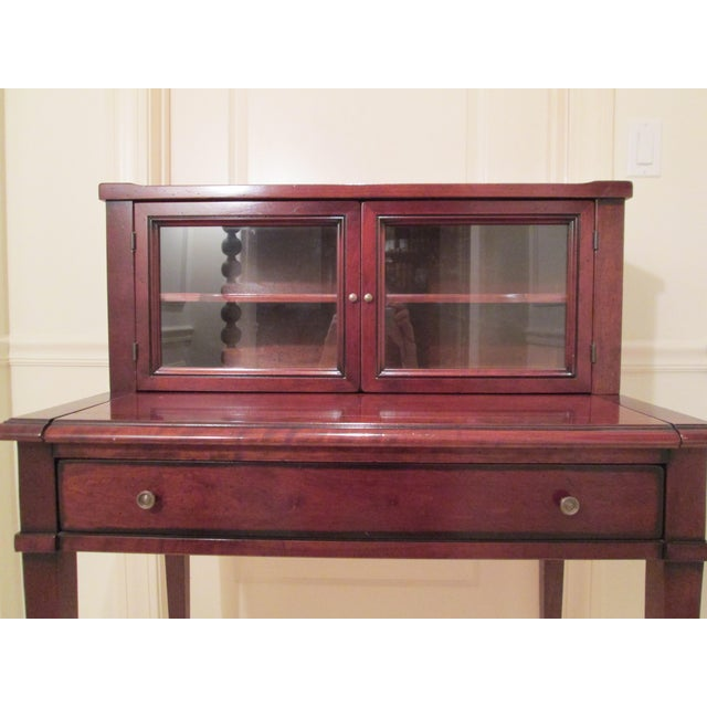Grange Writing Desk with Curio For Sale - Image 11 of 12