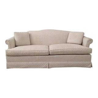 Ethan Allen Ivory White Sofa For Sale