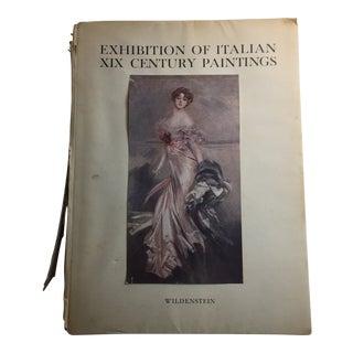 1949 Exhibition of Italian XIX Century Paintings Wildenstein & Co. Book