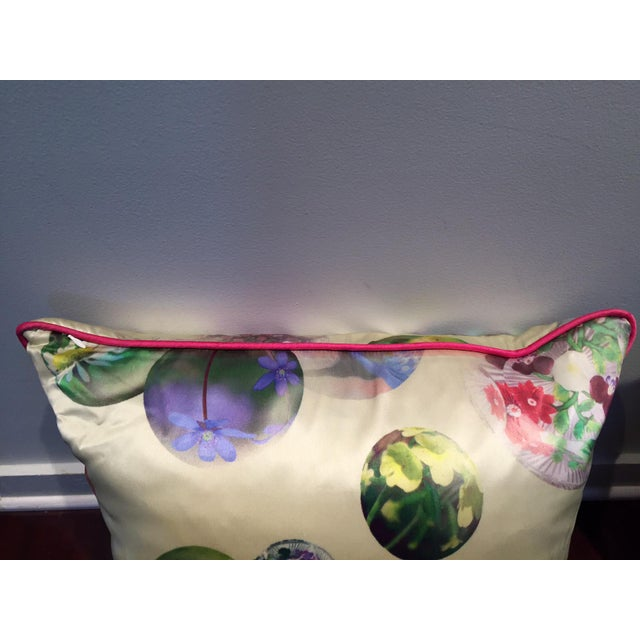Early 21st Century Contemporary Silk Printed Pillows - A Pair For Sale - Image 5 of 5