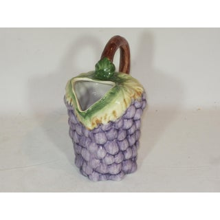 1980s Hand Painted Purple and Green Grape Pitcher Preview