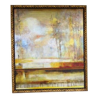 Signed Abstract Landscape Oil Painting For Sale