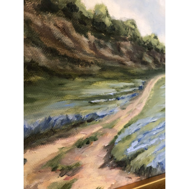 """Contemporary """"Lupine Roads"""" Small Oil Landscape Painting For Sale - Image 3 of 8"""