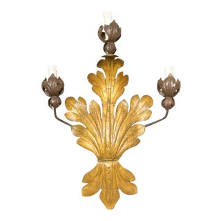 Antique French Iron Sconce For Sale