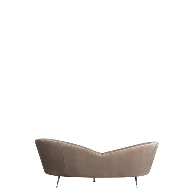 Wing Curved Sofa in Gray For Sale - Image 4 of 5
