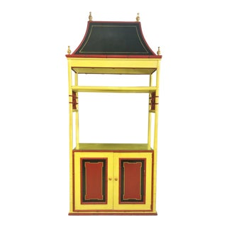Palm Beach Chinoiserie Pagoda Display Cabinet
