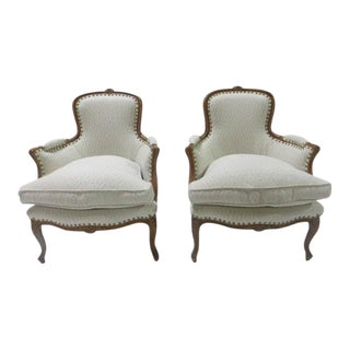 French Fauteuil Down Fill Armchair For Sale