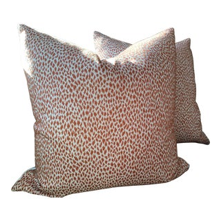 "Thibaut ""Citra"" Coral Down Filled Pillows - a Pair For Sale"