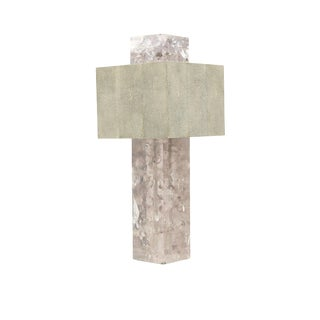 """Shagreen on the Rock"" Square Table Lamp by Sylvan San Francisco For Sale"