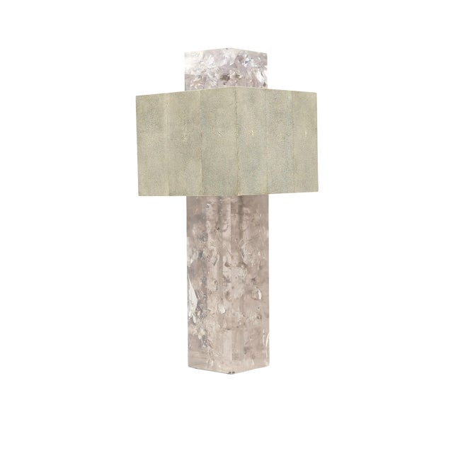 """""""Shagreen on the Rock"""" Square Table Lamp by Sylvan San Francisco For Sale"""