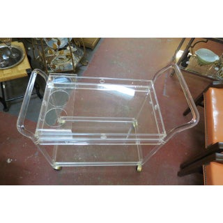 1960s Vintage Mid Century Modern Lucite Bar Cart Preview