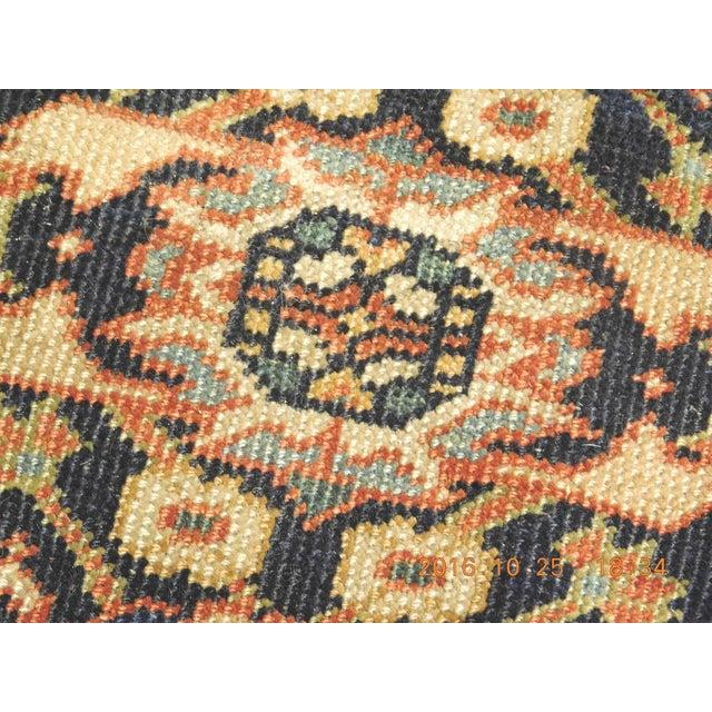 Cotton Vintage Trellis Design Turkish Rug - 8′8″ × 10′8″ For Sale - Image 7 of 8