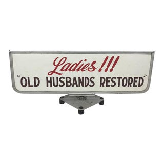 """Old Husbands Restored"" Trade/Store Display Sign For Sale"