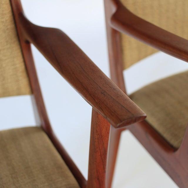Teak Mid Century Danish Modern Johannes Andersen for Uldum Møbelfabrik Dining Chairs- A Pair For Sale - Image 7 of 11