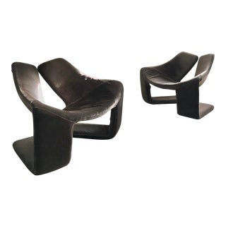 "1960s Vintage Space Age ""Zen"" Lounge Chairs Designed by Kwok Hoi Chan for Steiner Paris For Sale"