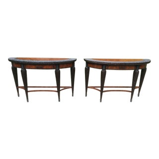 Traditional Maitland-Smith Console Tables - a Pair