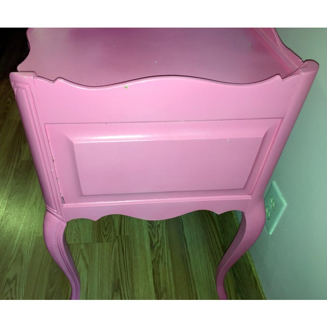 Suga Lane Hollywood Regency French Hot Pink Gold Desk - Image 10 of 13