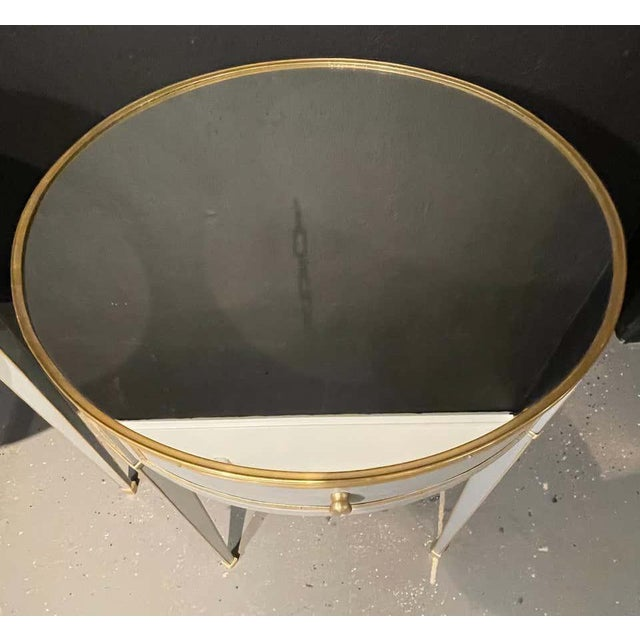 Vintage Jansen Style Painted End or Lamp Tables, Bouilliote Form - a Pair For Sale In New York - Image 6 of 8