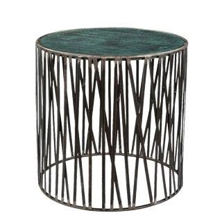 Garrad Contemporary Round Iron Sofa Side End Table