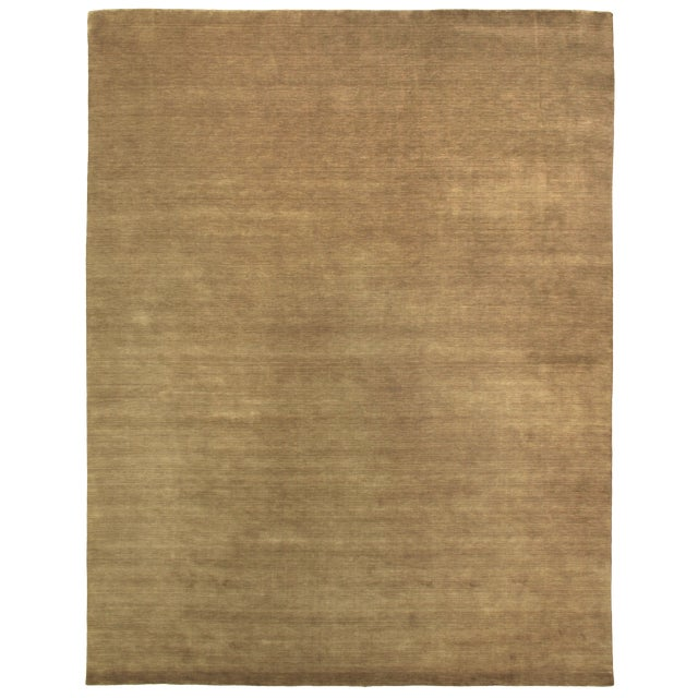 Exquisite Rugs Trillo Hand loom Wool Beige Rug-10'x14' For Sale