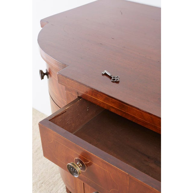 American Federal Mahogany Bow Front Sideboard For Sale - Image 4 of 13