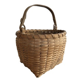Vintage Mid-Century Ho-Chunk Inspired Basket For Sale