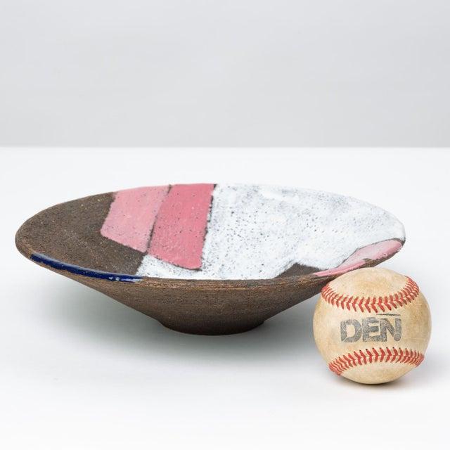 1960s Bitossi Patchwork Glazed Stoneware Bowl For Sale - Image 5 of 11