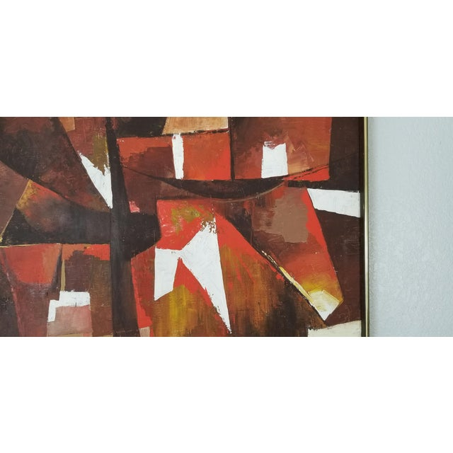 1970s Mid-Century Acrylic on Canvas Painting by Palilo. For Sale - Image 5 of 13