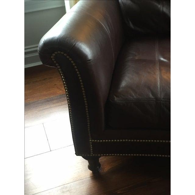 Ferguson Copeland Surrey Leather Chair & Ottoman For Sale - Image 5 of 10