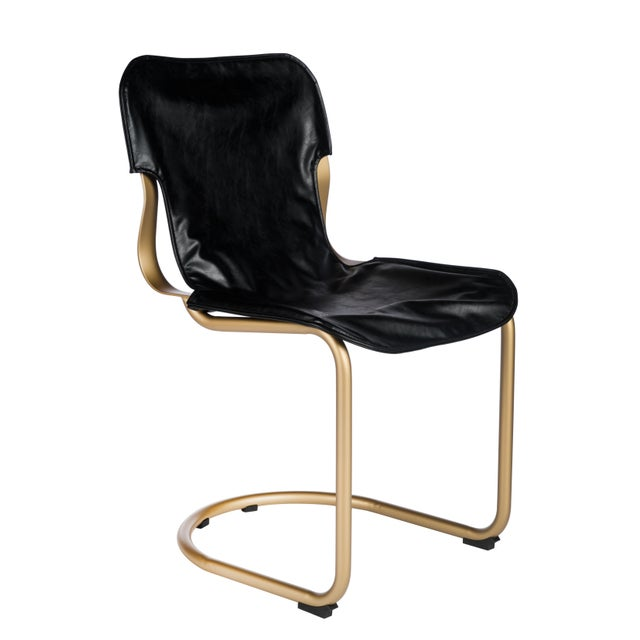 Eddie Dining Chair in Brass For Sale - Image 4 of 4