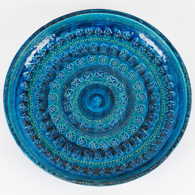 """Rimini Blu"" Ceramic Platter by Aldo Londi for Bitossi, Circa 1960s For Sale - Image 10 of 13"