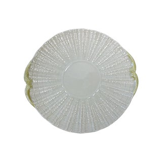 Vintage Irish Belleek Shell Serving Plate For Sale