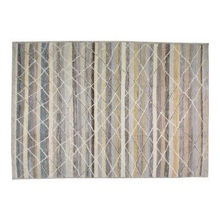 """Moroccan Hand Knotted Beni Ourain Rug With Natural Color Organic Wool and Soft Texture,9'10""""x14'2"""" For Sale"""