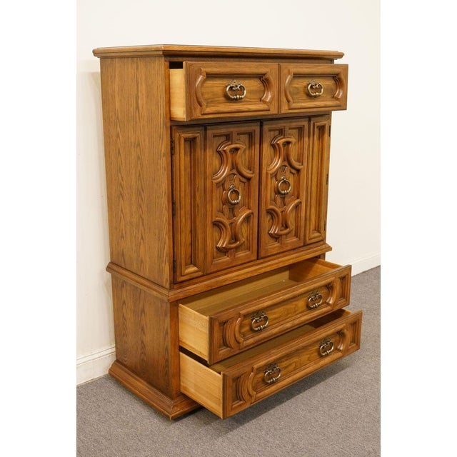 "Wood 20th Century Traditional Thomasville Furniture Levitz Collection 41"" Door Chest/Armoire For Sale - Image 7 of 13"