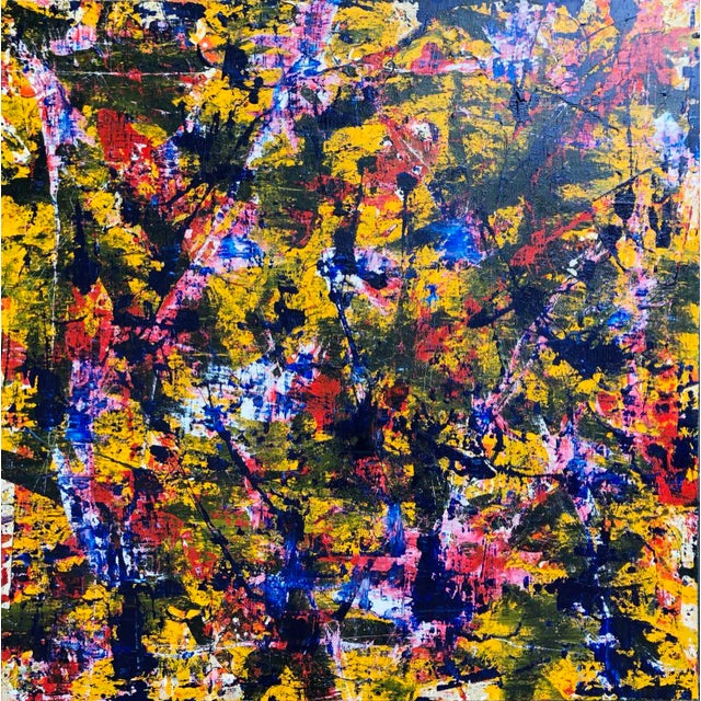 """Acrylic Painting by Artist Troy Smith - 60"""" X 60"""" Contemporary Art - Abstraction For Sale - Image 13 of 13"""