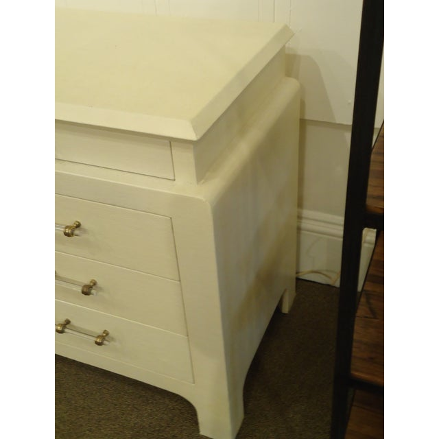 Karl Springer Style Linen Wrapped Chest - Image 3 of 4
