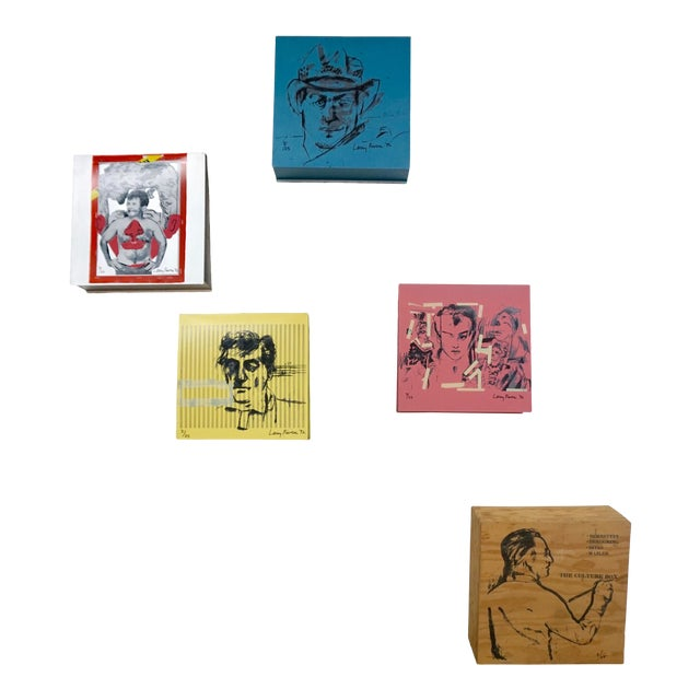Larry Rivers Steel Painted Pieces in Original Plywood Box- Set of 4 For Sale