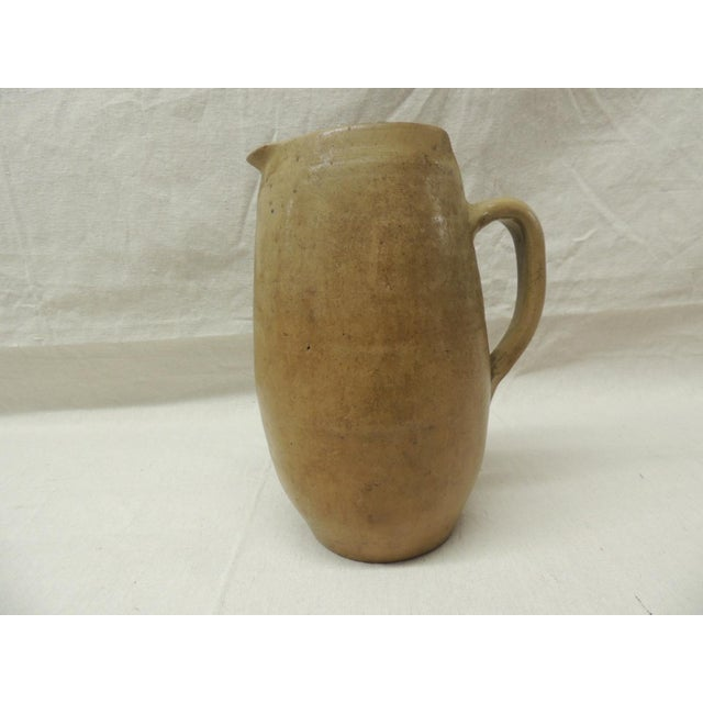 Vintage Glazed Stoneware Pitcher - Image 3 of 4
