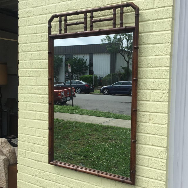 Faux Bamboo Faux Bamboo Mirror For Sale - Image 7 of 7