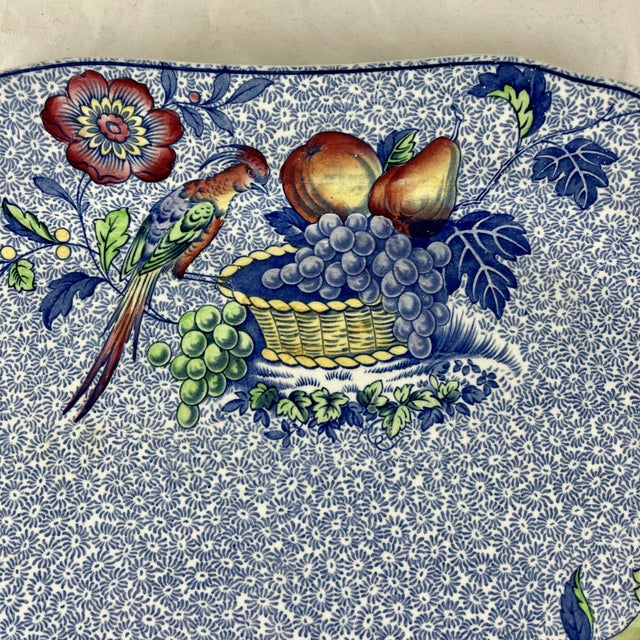 1920s 1920s Copeland Spode George III Pattern Platter for Harrods of London For Sale - Image 5 of 13