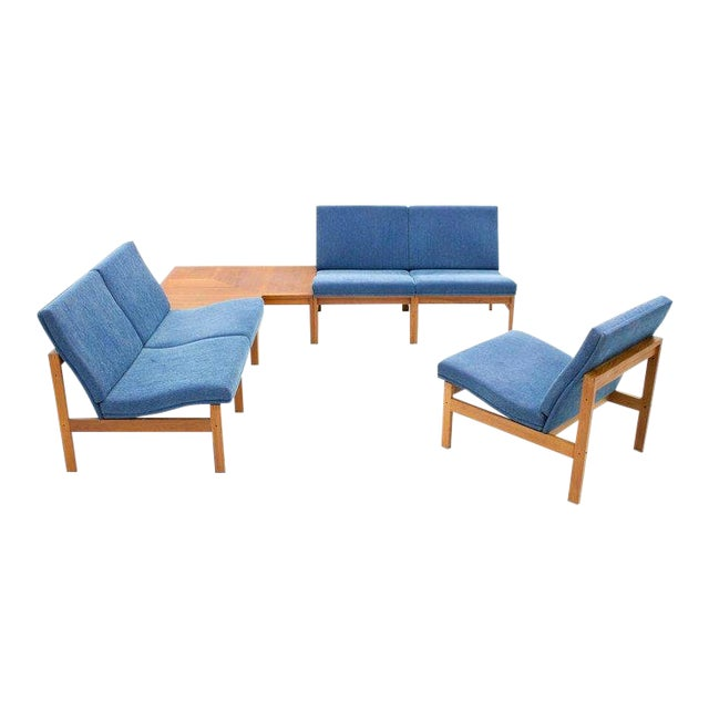 Torben Lind Modular Seating Group With Corner Table France & Son 1965 For Sale