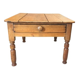 English Pine Side Table For Sale