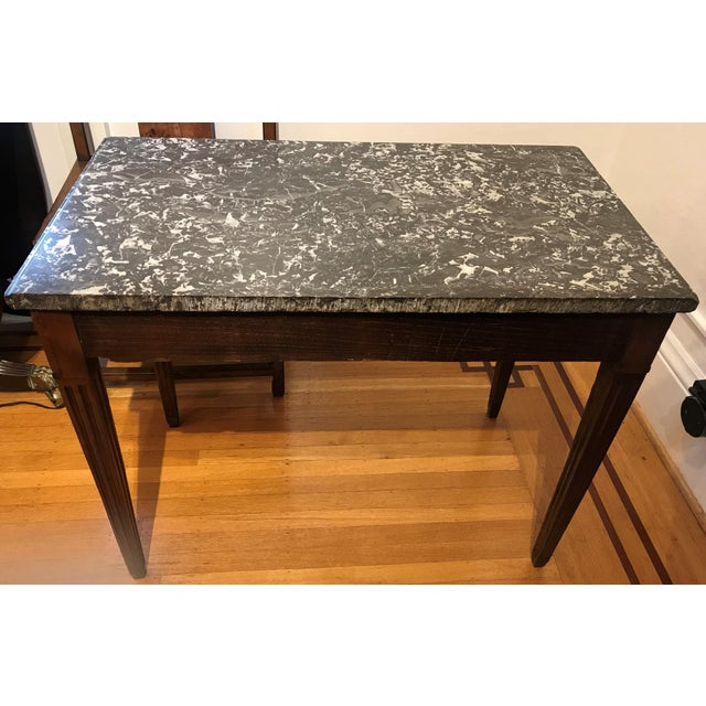Late 18th Century 18th Century Fruit Wood Marble Top Console Table For Sale - Image 5 of 6